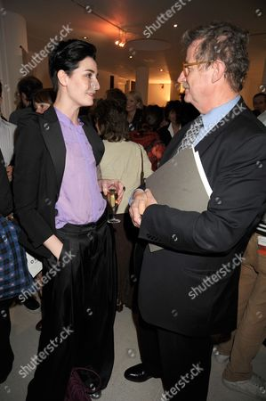 Erin O'Connor and Sir Christopher Frayling (Rector of RCA)