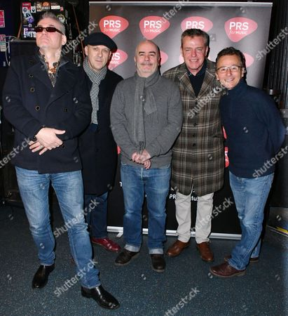 "Stock Photo of Mike Barson, Dan Woodgate, Mark Bedford, Graham "" Suggs "" McPherson, Chris Foreman of Madness"