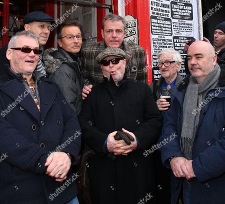 "Stock Photo of Mike Barson, Mark Bedford, Dan Woody Woodgate, Graham "" Suggs "" McPherson, Lee Thompson, John Foreman, dad of Chris Foreman"