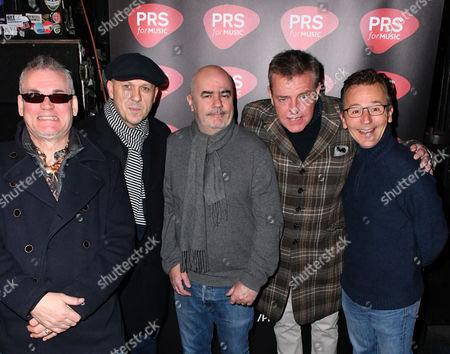 "Mike Barson, Dan Woodgate, Mark Bedford, Graham "" Suggs "" McPherson, Chris Foreman of Madness"