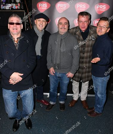 "Mike Barson, Dan Woodgate, Mark Bedford, Graham "" Suggs "" McPherson, Chris Foreman of Madness"