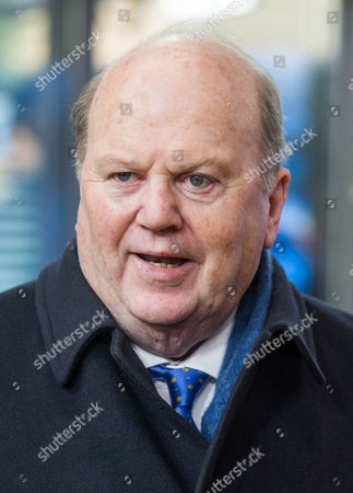 Irish Finance Minister Michael Noonan arrives at the Eurogroup Finance Ministers meeting in Brussels, Belgium, 26 January 2017.