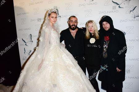 Model, Ziad Nakad, Shawn Pyfrom, Oceane Chiaroni