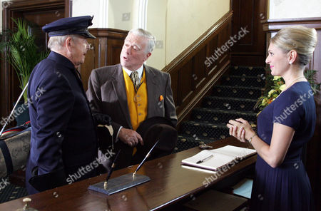 'Heartbeat'  - Series 17 - Episode: 8 - 'Only Make Believe' -  Oscar Blaketon (Derek Fowlds), Alf Ventress [William Simons] and Fiona Mills (Joanne Farrell)