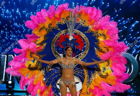 Miss Universe contestant Carolyn Carter of the U.S. Virgin Islands parades in costume during the preliminary competition of the Miss Universe beauty pageant at the Mall of Asia Arena in suburban Pasay city south of Manila, Philippines. A total of 86 contestants are vying for the title in the grand coronation on Jan. 30 to succeed Pia Wurtzbach of the Philippines