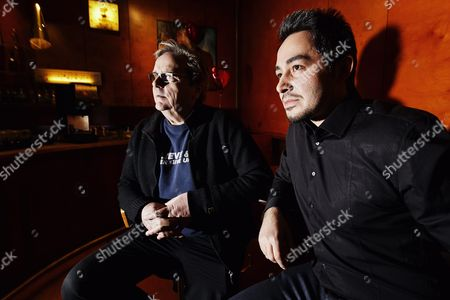 Actors Sakari Kuosmanen (left) and Sherwan Haji