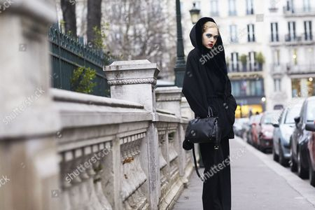 Editorial photo of Street style, Spring Summer, 2017 Haute Couture, Fashion Week, Paris, France - 25 Jan 2017