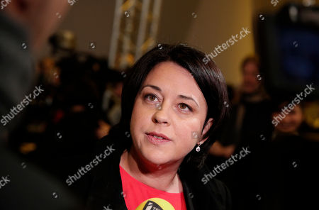 Former minister of Housing Sylvia Pinel attends the meeting of former French prime minister and candidate in the left-wing primary for the 2017 French presidential election, Manuel Valls, in Alfortville, outside Paris, France, . Former education minister Benoit Hamon will take on former prime minister Manuel Valls in a run-off vote on January 29, 2017, after scoring a surprise win in the first round of a primary seen as a battle for the party's soul