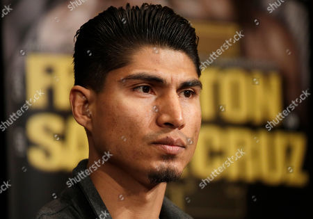 Mikey Garcia attends a news conference, in Las Vegas. Garcia is scheduled to fight Dejan Zlaticanin, of Montenegro, in a lightweight title boxing match Saturday in Las Vegas