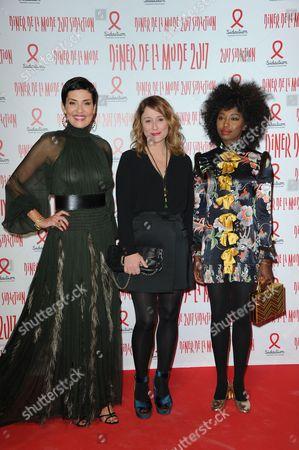 Cristina Cordula, Daniela Lumbroso and Ina Modja