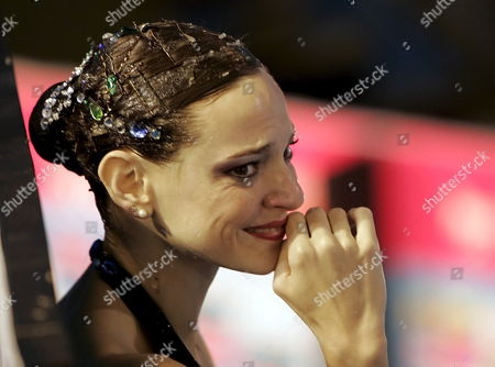 Virginie Dedieu Cries After Realising That She Has Won the Synchronized Swimming Solo Routine Final at the Susie O'neill Pool at the Fina Swimming World Championships in Melbourne Australia Thursday 22 March 2007 Australia Melbourne