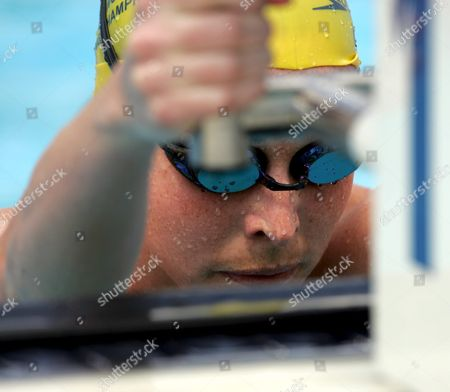 Australia's Giaan Rooney Prepares to Swim in the Final Heat of the Women's 200m Backstroke at the Fina World Championships in Montreal Canada Friday 29 July 2005 Canada Montreal