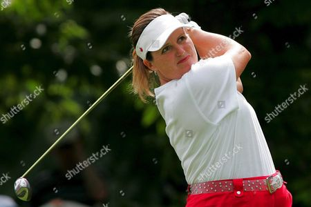 Lorie Kane of Canada Plays the Ball During the Evian Masters Women's Golf Tournament in Evian Eastern France Saturday 23 July 2005 France Evian