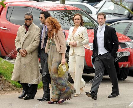 Cast members of Holby City (L-R), Hugh Quarshie, Hari Dhillon, Phoebe Thomas, Amanda Mealing and Luke Roberts