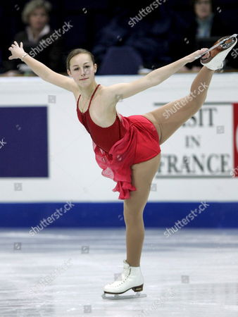 Usa's Kimmie Meissner Performs in the Ladies Short Program in the Scandinavium Main Rink at the World Figure Skating Championships 2008 in Goeteborg Sweden Wednesday March 19 2008 Sweden Goeteborg Gothenburg