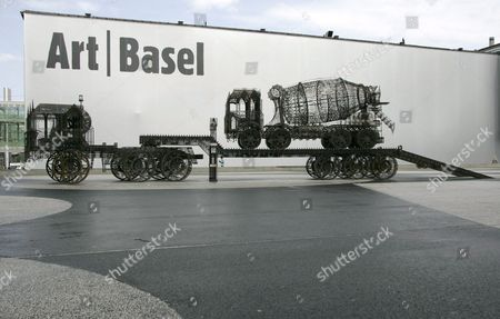 Flatbedtruck (2007) of Wim Delvoye Represented by the Gallery Emmanuel Perrotin (miami Paris) is Shown at the Exhibition Public Art Project in the Context of the Art38 Basel in Basel Switzerland 11 June 2007 Switzerland Schweiz Suisse Basel Bale Basle