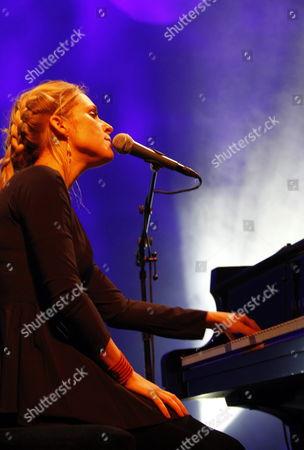 Danish Musician Agnes Obel Performs During the Blue Balls Festival in Lucerne Switzerland 29 July 2011 the Festival Runs Until 30 July Switzerland Schweiz Suisse Lucerne