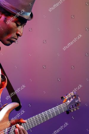 Nigerian Singer and Guitarist Keziah Jones is Seen Performing at the Blue Balls Festival in Lucerne Switzerland 27 July 2011 the Festival Runs Until 30 July 2011 Switzerland Schweiz Suisse Lucerne