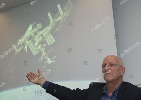 Swiss Claude Nicollier Former Astronaut and Professor at the Swiss Federal Institute of Technology (epfl) Speaks About the Launch of 'Cleanspace One' a Project to Develop and Build the First Installment of a Family of Satellites Specially Designed to Clean Up Space Debris During a Press Conference in Lausanne Switzerland 15 February 2012 Switzerland Schweiz Suisse Lausanne