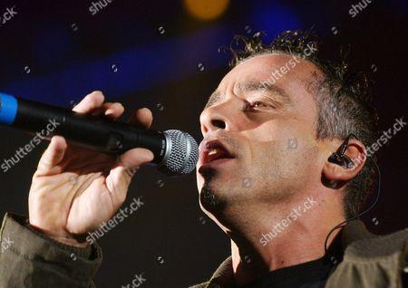 Italian Singer Eros Ramazotti Performs on Stage on Monday October 20 2003 in the Sold out Hallenstadion in Zurich Switzerland Switzerland Schweiz Suisse Zurich