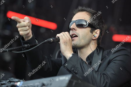 Belgian Singer John Stargasm of 'Ghinzu' Performs on the Main Stage During the 34th Paleo Festival in Nyon Switzerland 22 July 2009 the Paleo Open-air Music Festival the Largest in Switzerland Runs From 21 to 26 July Switzerland Schweiz Suisse Nyon