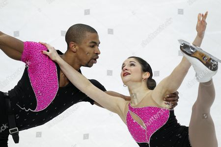 Adeline Canac and Yannick Bonheur From France Perform in the Pairs Free Skating at the Isu European Figure Skating Championships in Bern Switzerland 27 January 2011 Switzerland Schweiz Suisse Bern