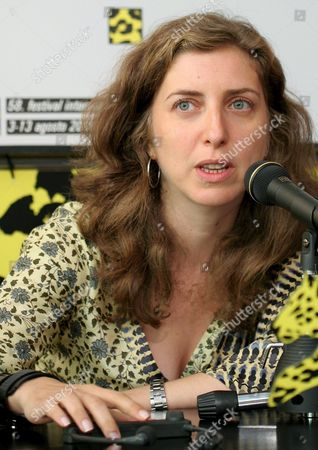 Lebanese Director Joana Hadjithomas Talks About Her Film 'A Perfect Day' During a Press Conference at the 58th International Film Festival Locarno Monday 08 August 2005 in Locarno Switzerland Switzerland Schweiz Suisse Locarno