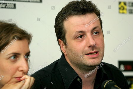 Lebanese Directors Joana Hadjithomas Left and Khalil Joreige Right Talk About Their Movie 'A Perfect Day' During a Press Conference at the 58th International Film Festival Locarno Monday 08 August 2005 in Locarno Switzerland Switzerland Schweiz Suisse Locarno