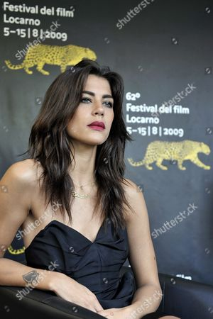 Iranian Actress Karima Adebibe Poses During a Photocall Prior to the Presentation of Iranian Director Babak Jalali's Movie 'Frontier Blues' at the 62nd Locarno International Film Festival 11 August 2009 in Locarno Switzerland the Festival Runs Until 15 August Switzerland Schweiz Suisse Locarno