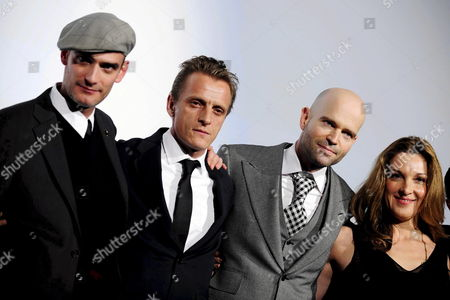 (l-r) Swiss Actor Anatole Taubman and Swiss Actor Carl Von Malaise Swiss Film Director Marc Forster and Us Film Producer Barbara Broccoli Pose As They Arrive For the Swiss Premiere of the New James Bond Movie 'Quantum of Solace' in Emmenbruecke Switzerland 04 November 2008 Switzerland Schweiz Suisse Emmenbruecke