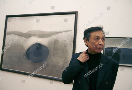 Chinese Writer and Literature Nobel Prize Laureate Gao Xingjian Poses During a Vernissage of a Selection of His Ink Drawings at the Art Museum in Berne Switzerland Tuesday 28 November 2006 Switzerland Schweiz Suisse Bern