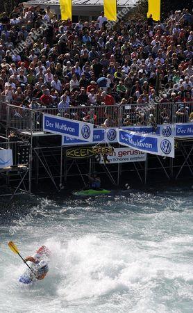 Stock Image of David Bainbridge From Britain Competes to Win the C1 Final During the Kayak World Championships in Thun Switzerland 06 September 2009 Switzerland Schweiz Suisse Thun