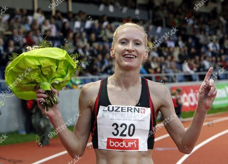 Barbara Parker From Great Britain at the Women's 3000 Metres Steeple Race at the International Athletics Meeting of Lucerne in Luzern Switzerland 21 July 2011 Switzerland Schweiz Suisse Lucerne