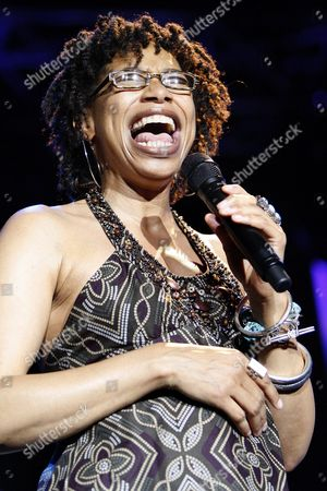 Stock Image of Us Singer Rachelle Ferrell Perfoms on the Stravinski Hall Stage at the 43rd Montreux Jazz Festival in Montreux Switzerland 13 July 2009 Switzerland Schweiz Suisse Montreux