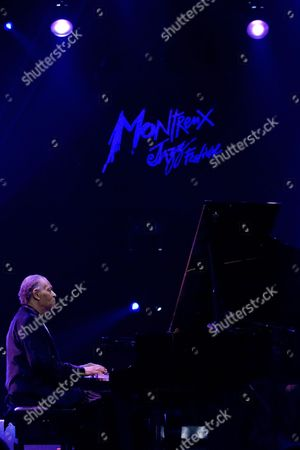 American Jazz Pianist Mccoy Tyner Performs on the Miles Davis Hall Stage During the 43rd Montreux Jazz Festival in Montreux Switzerland 14 July 2009 Switzerland Schweiz Suisse Montreux