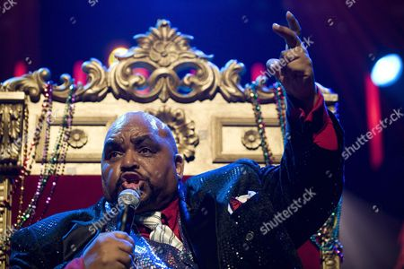 Stock Photo of Us Singer and Songwriter Solomon Burke Performs on the Stravinski Hall Stage During the 43rd Montreux Jazz Festival in Montreux Switzerland Late 14 July 2009 the Festival Runs Until 18 July Switzerland Schweiz Suisse Montreux