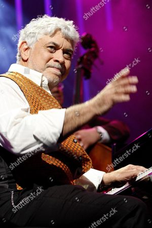 Jamaican Jazz Pianist Monty Alexander of Monty Alexander and Harlem Kingston Express Perfoms on the Stravinski Hall Stage at the 43rd Montreux Jazz Festival in Montreux Switzerland 10 July 2009 the Festival Runs Until 18 July Switzerland Schweiz Suisse Montreux