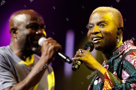 Congolese Ray Lema Left and Beninese-french Singer Angelique Kidjo Right Perform on the Stravinski Hall Stage at the 43rd Montreux Jazz Festival in Montreux Switzerland 10 July 2009 Switzerland Schweiz Suisse Montreux