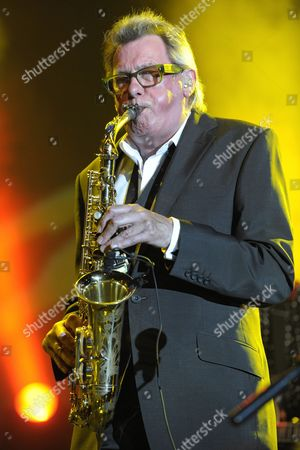Saxophonist Andy Mackay of Roxy Music Performs on the Stravinski Hall Stage at the 44th Montreux Jazz Festival in Montreux Switzerland 02 July 2010 the Festival Runs Until 17 July Switzerland Schweiz Suisse Montreux