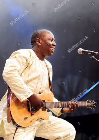 Stock Picture of Malian Musician Vieux Farka Toure Performs at the Afro-pfingsten in Winterthur 12 June 2011 Afro-pfingsten Runs From 08 Until 13 June 2011 Switzerland Schweiz Suisse Winterthur