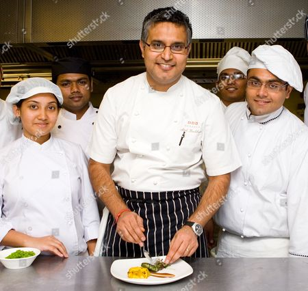 Atul Kochhar, the first Indian food chef to receive a Michelin Star, working with International Students from Ealing, Hammersmith & West London College