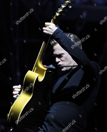 Canadian Singer Bryan Adams Performs During the Moon and Stars Festival on the Piazza Grande in Locarno Switzerland 16 July 2011 Switzerland Schweiz Suisse Locarno