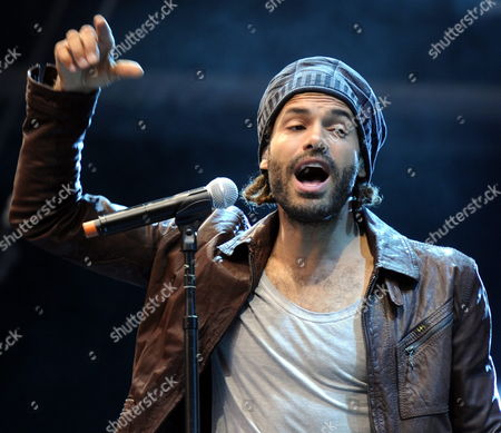 Stock Picture of Dutch Singer Alain Clark Performs During the Moon and Stars Festival on the Piazza Grande in Locarno Switzerland 16 July 2011 Switzerland Schweiz Suisse Locarno