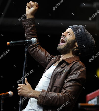 Stock Image of Dutch Singer Alain Clark Performs During the Moon and Stars Festival on the Piazza Grande in Locarno Switzerland 16 July 2011 Switzerland Schweiz Suisse Locarno