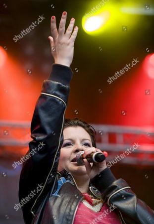 Stock Image of Romanian Singer Songwriter and Musician 'Miss Platnum' (born Ruth Maria Renner) Performs During the Gurtenfestival in Bern Switzerland 17 July 2008 Switzerland Schweiz Suisse Bern
