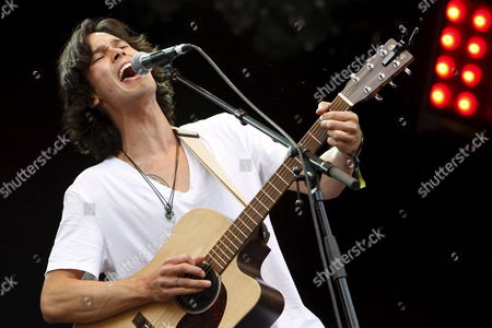 Canadian Singer and Songwriter Justin Nozuka Performs on the Main Stage During the Gampel Open Air Festival in Gampel Switzerland 16 August 2008 Switzerland Schweiz Suisse Gampel