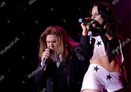 Stock Image of U S Rockstar Meat Loaf (michael Lee Aday) (l) Performs on Stage During His Concert in Basel Switzerland 25 June 2007 Switzerland Schweiz Suisse Basel