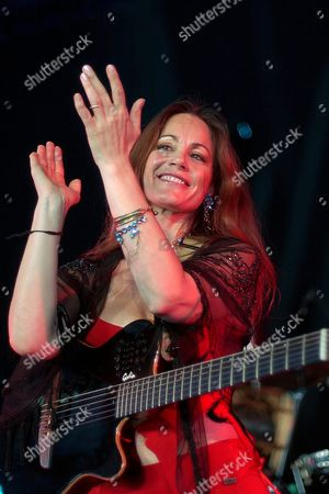 Argentine Singer Barbara Luna Performs on the Dome 'Village Du Monde' Stage on the Last Day of the Paleo Festival in Nyon Switzerland Sunday 25 July 2004 Switzerland Schweiz Suisse Nyon