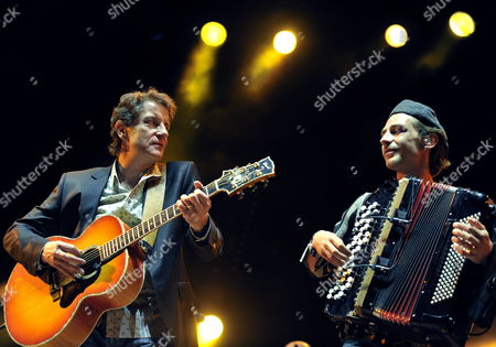 French Singer Francis Cabrel (l) and Alexandre Leauthaud (r) Perform on the Main Stage During the 34th Paleo Festival in Nyon Switzerland 25 July 2009 the Paleo Open-air Music Festival Runs From 21 to 26 July Switzerland Schweiz Suisse Nyon