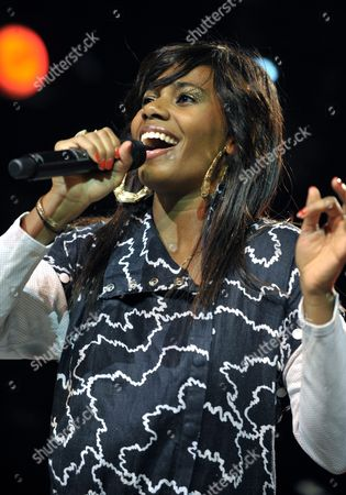 Us Singer White Santi Known As Santigold Performs on the Club Tent Stage During the 34th Paleo Festival in Nyon Switzerland 25 July 2009 the Paleo Open-air Music Festival Runs From 21 to 26 July Switzerland Schweiz Suisse Nyon
